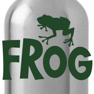 frog typo with cute little froggy Baby Bodysuits - Water Bottle