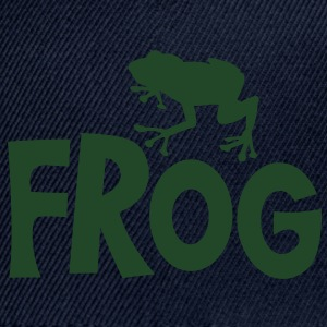 frog typo with cute little froggy Baby Bodysuits - Snap-back Baseball Cap