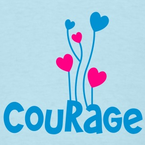 courage and faith word with lovely heart balloons Baby Bodysuits - Men's T-Shirt