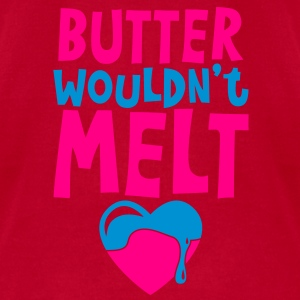 butter wouldnt melt with cute melting love heart Baby Bodysuits - Men's T-Shirt by American Apparel