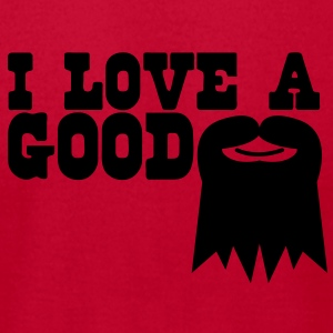 I LOVE A GOOD GOATEE moustache Baby Bodysuits - Men's T-Shirt by American Apparel