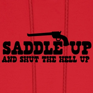 saddle up and shut the hell up with pistol Baby Bodysuits - Men's Hoodie