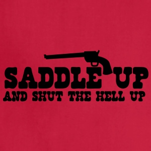 saddle up and shut the hell up with pistol Baby Bodysuits - Adjustable Apron