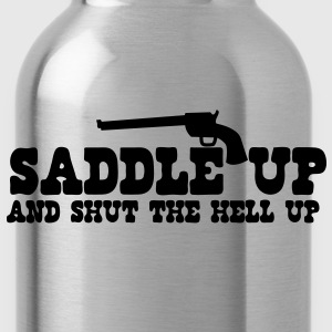 saddle up and shut the hell up with pistol Baby Bodysuits - Water Bottle