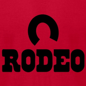 rodeo with horseshoe Baby Bodysuits - Men's T-Shirt by American Apparel