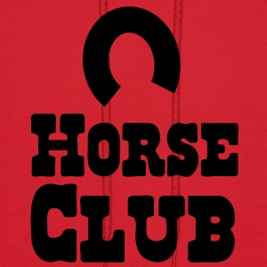 horse club with horseshoe Baby Bodysuits - Men's Hoodie