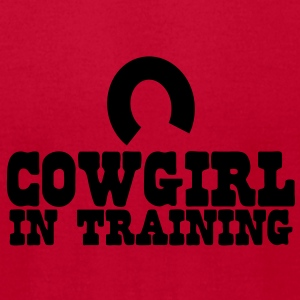cowgirl in training - horseshoe Baby Bodysuits - Men's T-Shirt by American Apparel