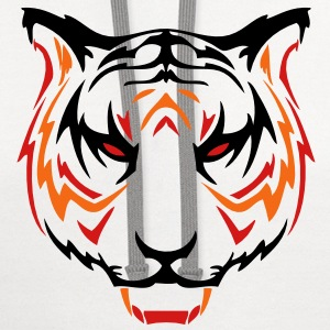 tiger head 05 T-Shirts - Contrast Hoodie