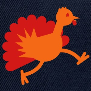 TURKEY BID RUNNING thanksgiving Women's T-Shirts - Snap-back Baseball Cap
