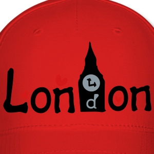 London txt Bigben hearts vector graphic art Women's Slim Fit T-Shirt by American Apparel - Baseball Cap