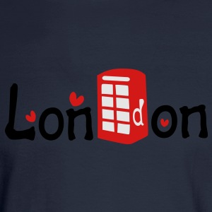 London txt red telephone booth hearts vector graphic art Women's Slim Fit T-Shirt by American Apparel - Men's Long Sleeve T-Shirt