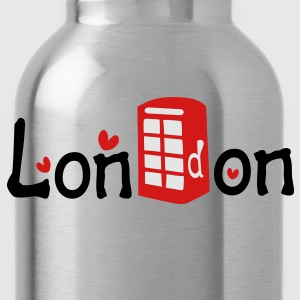 London txt red telephone booth hearts vector graphic art Women's Slim Fit T-Shirt by American Apparel - Water Bottle