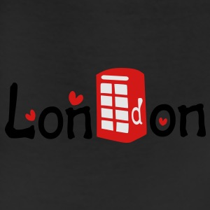London txt red telephone booth hearts vector graphic art Women's Slim Fit T-Shirt by American Apparel - Leggings