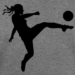 Soccer female Women's T-Shirts - Women's Wideneck Sweatshirt