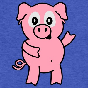 pig Sweatshirts - Fitted Cotton/Poly T-Shirt by Next Level