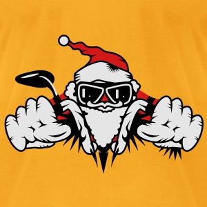 Santa Claus on Motorcycle Bags  - Men's T-Shirt by American Apparel
