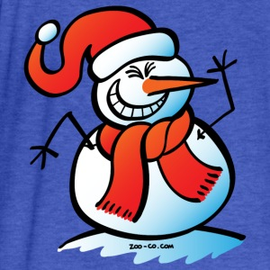 Naughty Snowman Sweatshirts - Fitted Cotton/Poly T-Shirt by Next Level