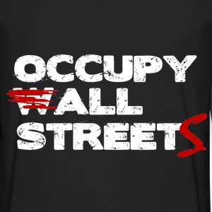 Occupy ALL Streets - Wall Street Shirt Hoodies - Men's Premium Long Sleeve T-Shirt