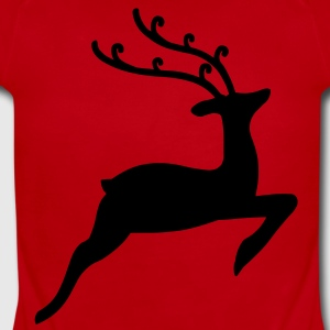 Christmas Reindeer Kids' Shirts - Short Sleeve Baby Bodysuit