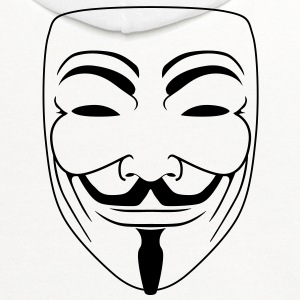 Anonymous Guy Fawks Mask _v2 Vector 1_Color - Contrast Hoodie