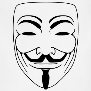 Anonymous Guy Fawks Mask _v2 Vector 1_Color - Adjustable Apron