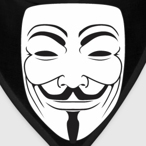 Anonymous Guy Fawks Mask _v3 Raster T-Shirts - Bandana