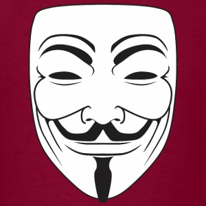 Anonymous Guy Fawks Mask _v3  - Men's T-Shirt