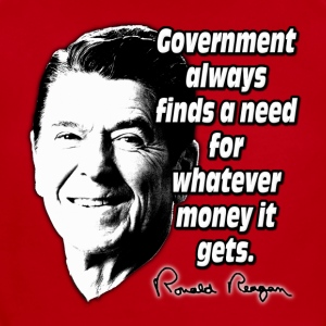 Reagan Quote Government and Money Kids' Shirts - Short Sleeve Baby Bodysuit