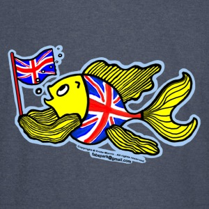 British Fish with a Union Jack Flag - Vintage Sport T-Shirt