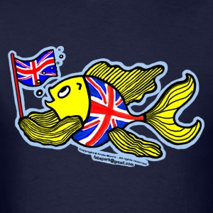 British Fish with a Union Jack Flag - Men's T-Shirt