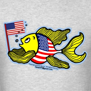 American Flag Fish - Men's T-Shirt