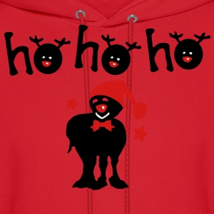 ho ho ho txt reindeer christmas vector graphic art Women's Slim Fit T-Shirt by American Apparel - Men's Hoodie