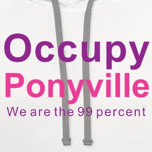 Bronies Occupy Ponyville v1a - Contrast Hoodie