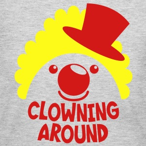 clowning around CLOWN FACE IN A TOP HAT T-Shirts - Women's Long Sleeve Jersey T-Shirt