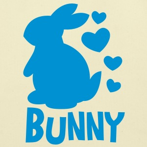 bunny rabbit so cutie hearts with type T-Shirts - Eco-Friendly Cotton Tote
