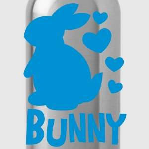 bunny rabbit so cutie hearts with type T-Shirts - Water Bottle