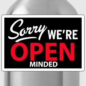 sorry we're open minded Hoodies - Water Bottle