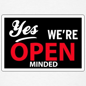 yes we are open minded Buttons - Men's T-Shirt