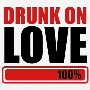 DRUNK ON LOVE 100% one hundred percent Polo Shirts - Men's Premium Tank