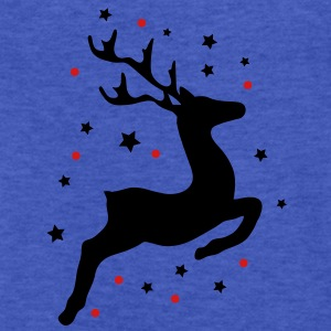 A leaping reindeer Sweatshirts - Fitted Cotton/Poly T-Shirt by Next Level