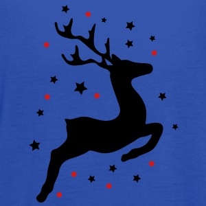 A leaping reindeer Sweatshirts - Women's Flowy Tank Top by Bella