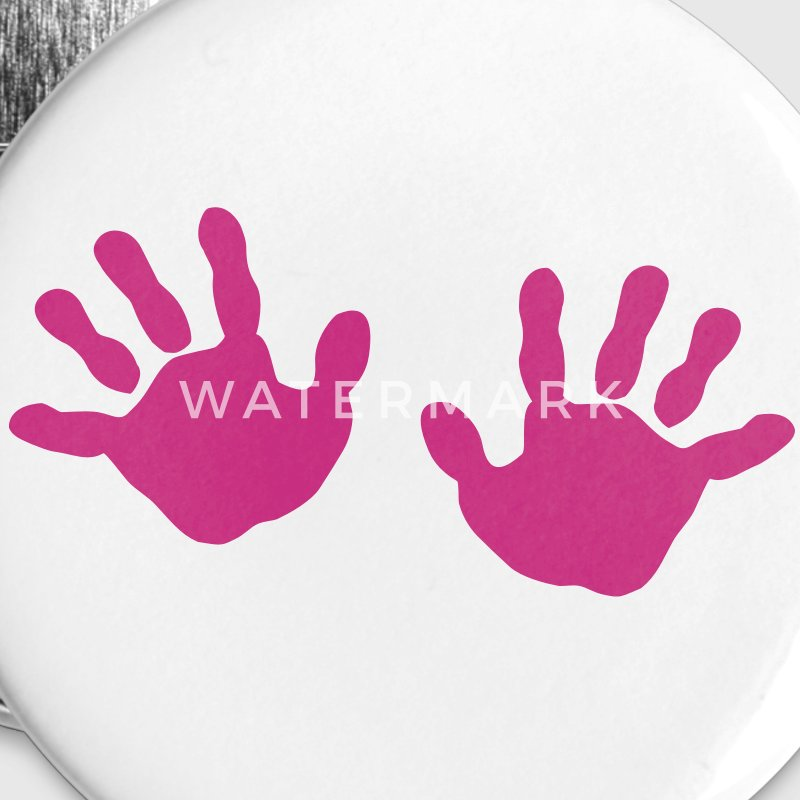 baby - hands - handprint  Buttons - Large Buttons