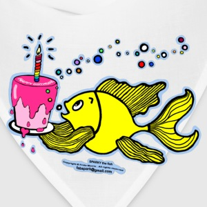 Happy Birthday, Fish with cake and candle  - Bandana