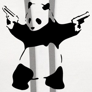 Banksy Panda with Guns T-Shirt - Contrast Hoodie