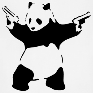 Banksy Panda with Guns T-Shirt - Adjustable Apron