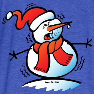 Sneezing Snowman Sweatshirts - Fitted Cotton/Poly T-Shirt by Next Level