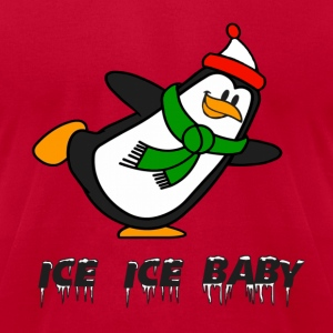 Ice Ice Baby Penguin Chilly Willy Hoodies - Men's T-Shirt by American Apparel