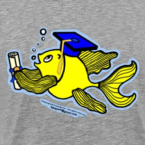 Graduation Fish Graduate - Men's Premium T-Shirt