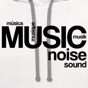 Music Noise Sound T-Shirts - Contrast Hoodie