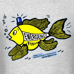 Emergency Fish Blue Light - Men's T-Shirt